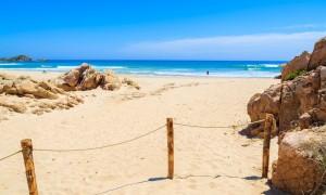 a picture of su giudeu beach near domus de maria in southern sardinia