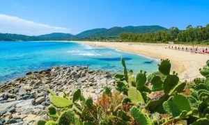 a picture of cala sinzias near costa rei south east sardinia