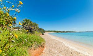 a picture of lazzaretto beach near alghero in sassari north west sardinia
