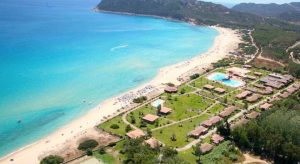 An aerial view of Hotel Garden Beach.