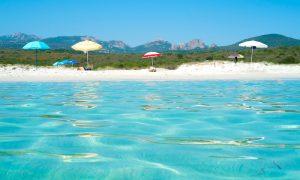 a picture of spiaggia rena bianca near portisco in north east sardinia