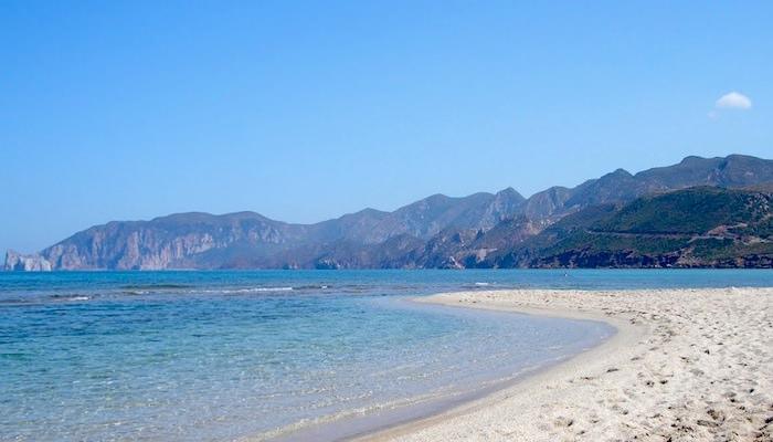 Fontanamare Beach, Fontanamare, Carbonia-Iglesias, Sardinia.