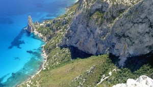 a picture of pedra longa beach, sardinia.