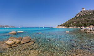 a picture of the beach at putzu idu in west sardinia