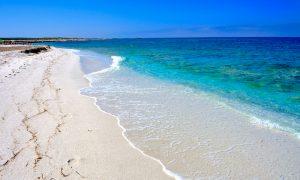 a picture of Spiaggia di Mari Ermi in Oristano west Sardinia