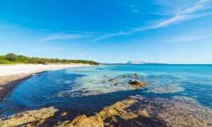 a picture of cala d'ambra near san teodoro in north-east sardinia, italy.