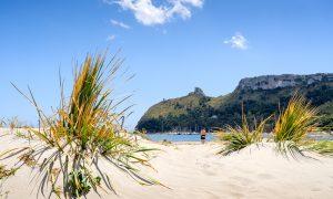 a picture of spiaggia del poetto di cagliari in south sardinia
