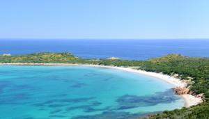 a picture of capo coda cavallo beach in sardinia