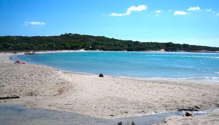 a picture of salina manna beach in sardinia