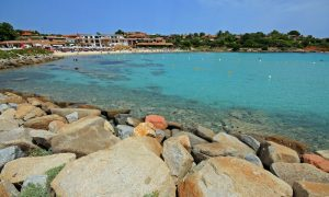 a picture of spiaggia baia cardinas in golfo aranci in north-east sardinia