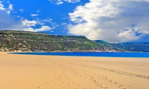 a picture of the beach of bosa marina in oristano west sardinia