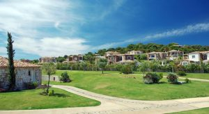 The landscaped gardens at the Hotel Villas Resort.