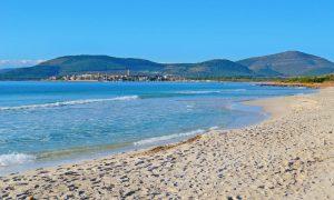 a picture of spiaggia di fertilia near alghero in north west sardinia