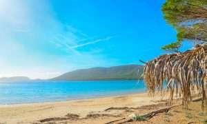 a picture of mugoni beach near alghero in north-west sardinia