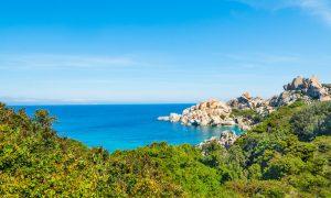 a picture of rocky shores in capo testa in the province of olbia tempio in north sardinia