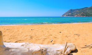 a picture of Spiaggia di Porto Ferro near Alghero in north-west Sardinia Italy.