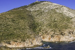 a picture of Cala Greca, a small cove near Golfo Aranci, north-east Sardinia, Italy.