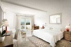 a picture of a room at Hotel La Rocca Resort & Spa in Baja Sardinia, Costa Smeralda, north-east Sardinia, Italy.