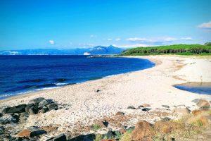 a picture of Spiaggia di Foghe Pizzinna, a small beach near Orosei, east Sardinia, Italy.