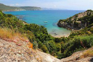 Spiaggia Cumpoltittu, a small cove located near Bosa, Oristano, west Sardinia, Italy.