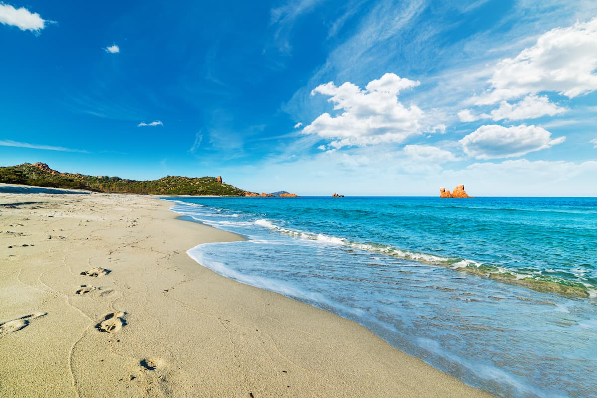 Spiaggia di Cea is a gorgeous beach near Bari Sardo in east Sardinia Italy