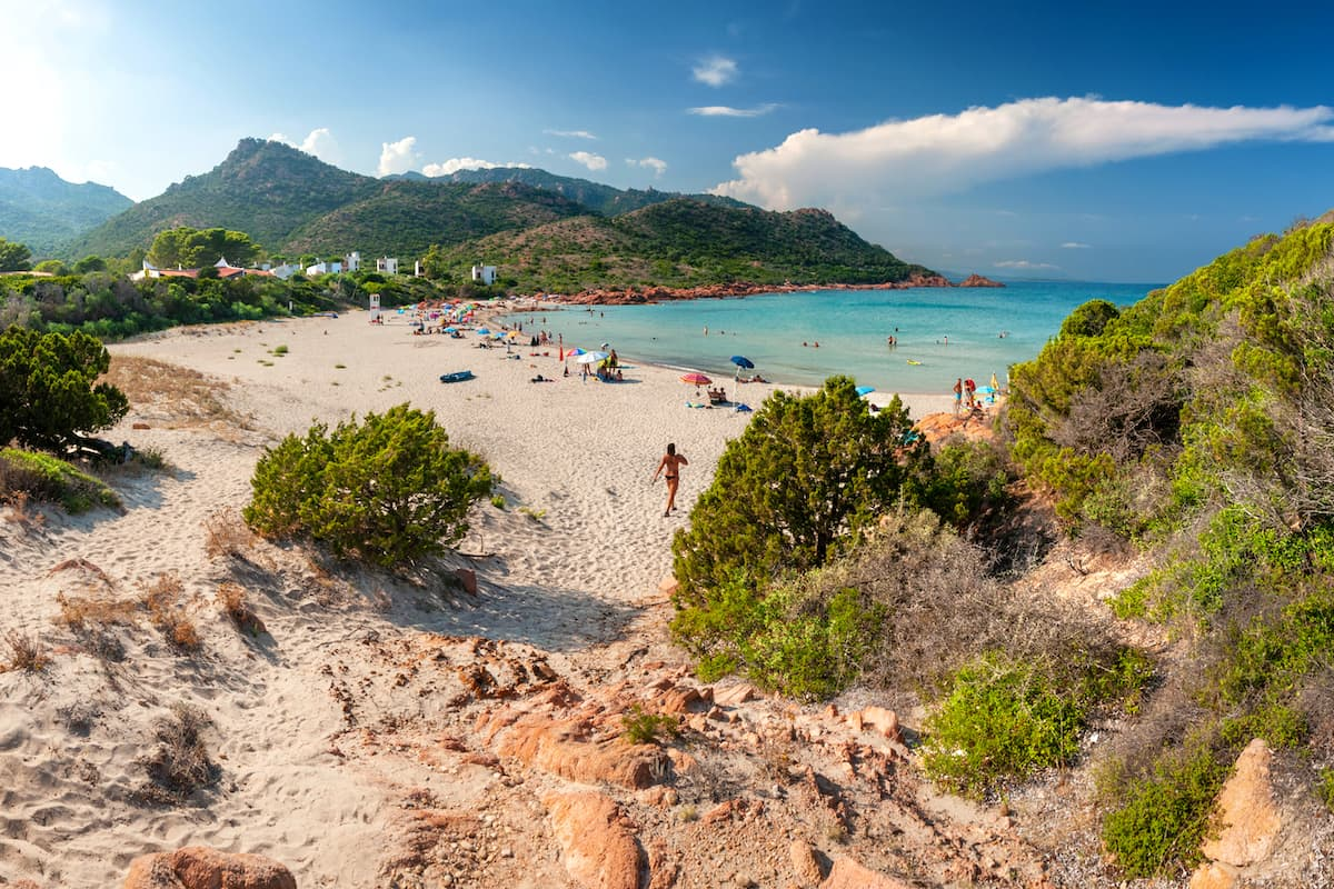 the beach named Spiaggia di Su Sirboni, near Tertenia, in south-east Sardinia, Italy.